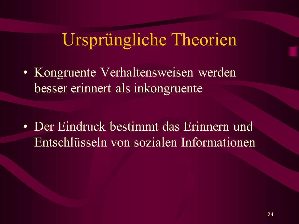 Ursprüngliche Theorien
