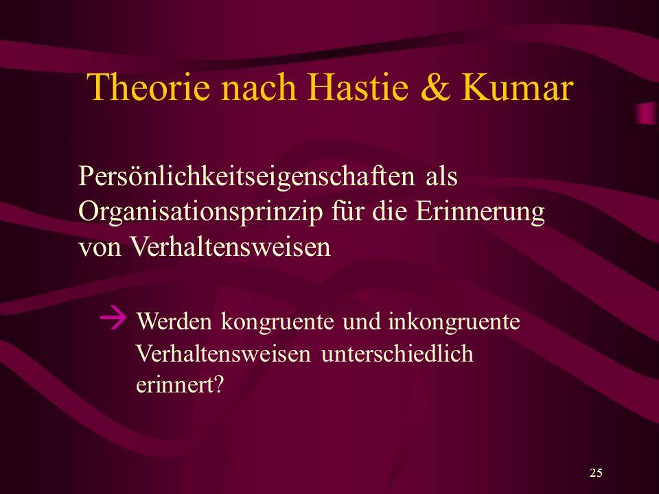 Theorie nach Hastie & Kumar