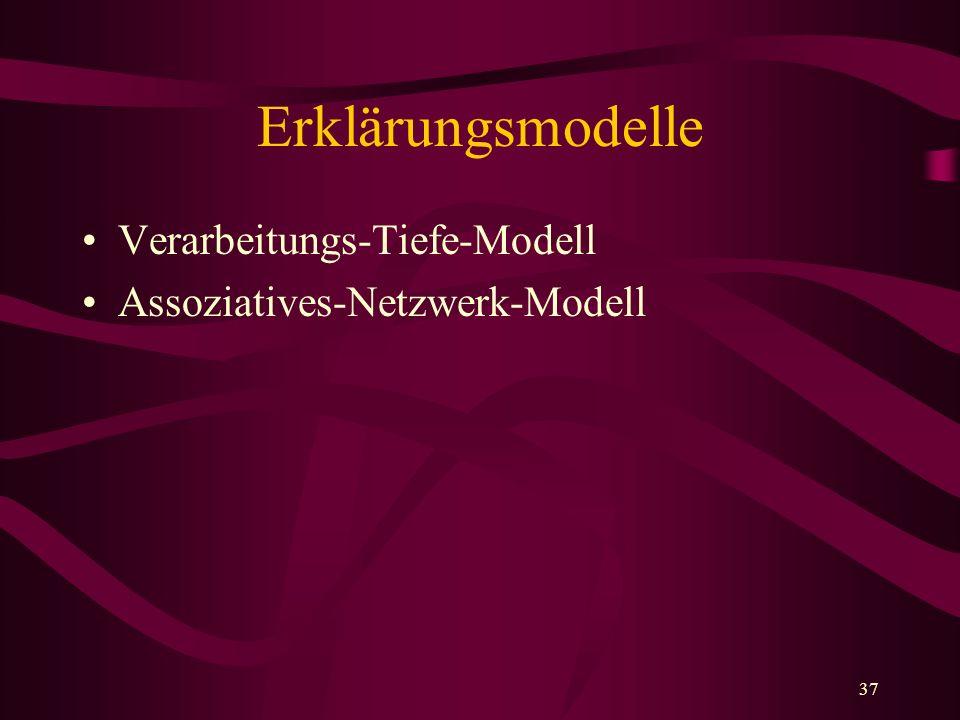Erklärungsmodelle Verarbeitungs-Tiefe-Modell
