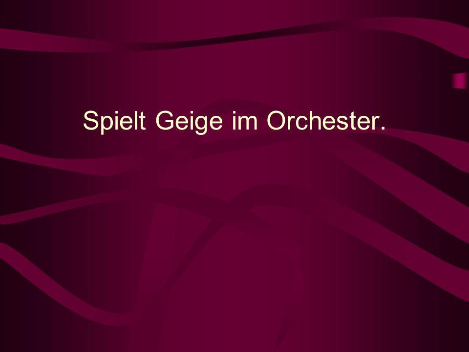 Spielt Geige im Orchester.
