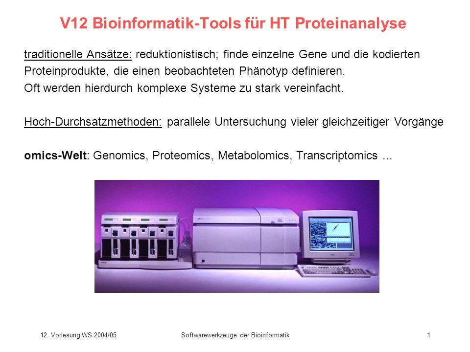 V12 Bioinformatik-Tools für HT Proteinanalyse