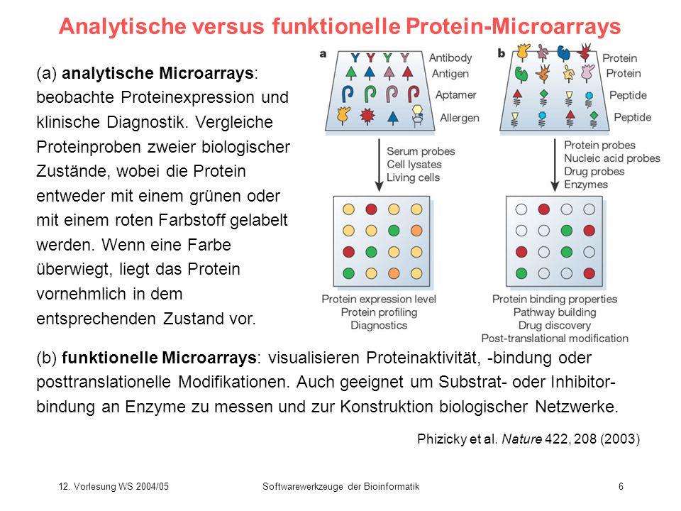 Analytische versus funktionelle Protein-Microarrays
