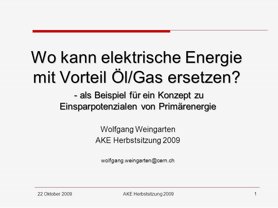 Wo kann elektrische Energie mit Vorteil Öl/Gas ersetzen