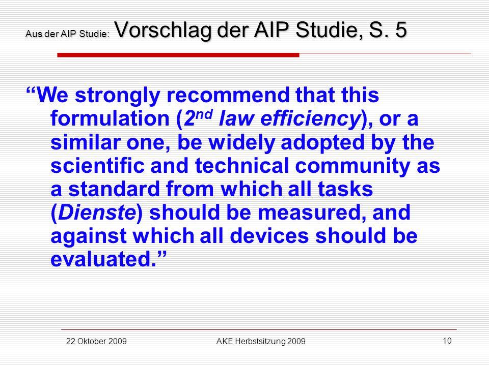 Aus der AIP Studie: Vorschlag der AIP Studie, S. 5