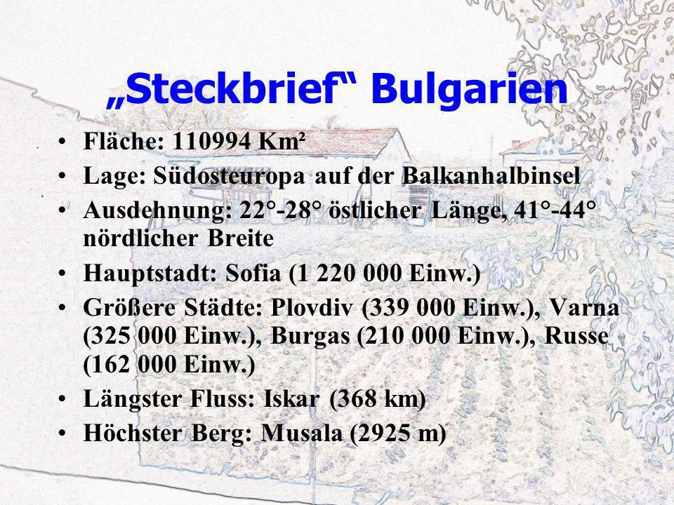 """""""Steckbrief Bulgarien"""