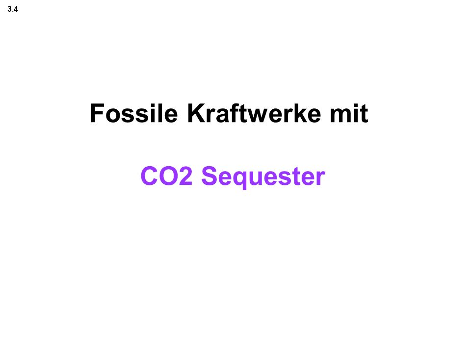 Fossile Kraftwerke mit