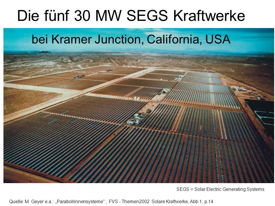 Die fünf 30 MW SEGS Kraftwerke