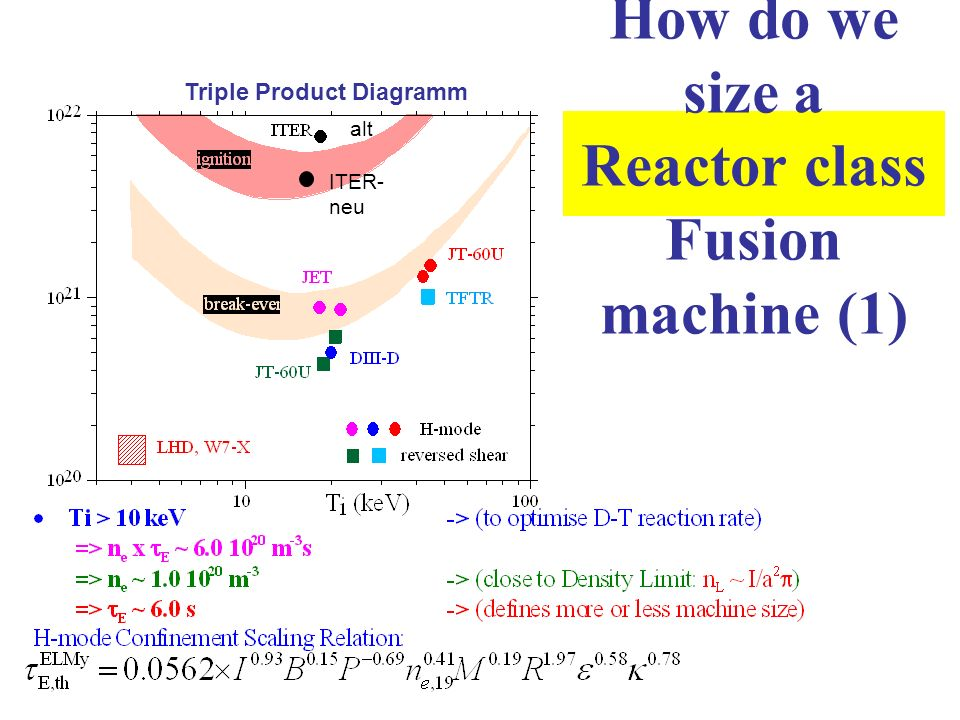 How do we size a Reactor class Fusion machine (1)