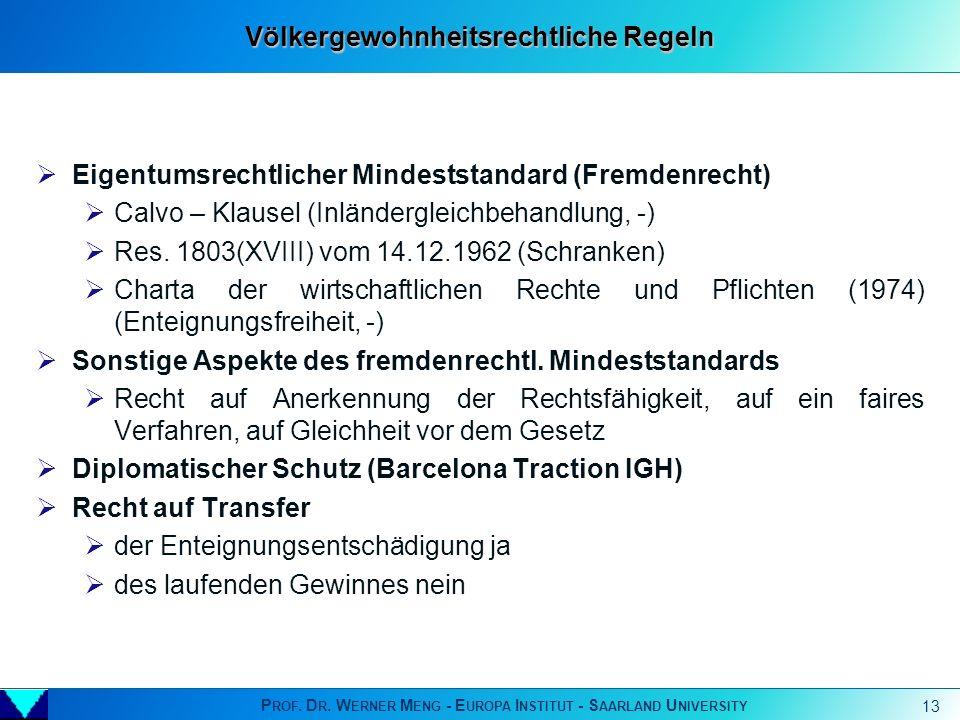 Völkergewohnheitsrechtliche Regeln