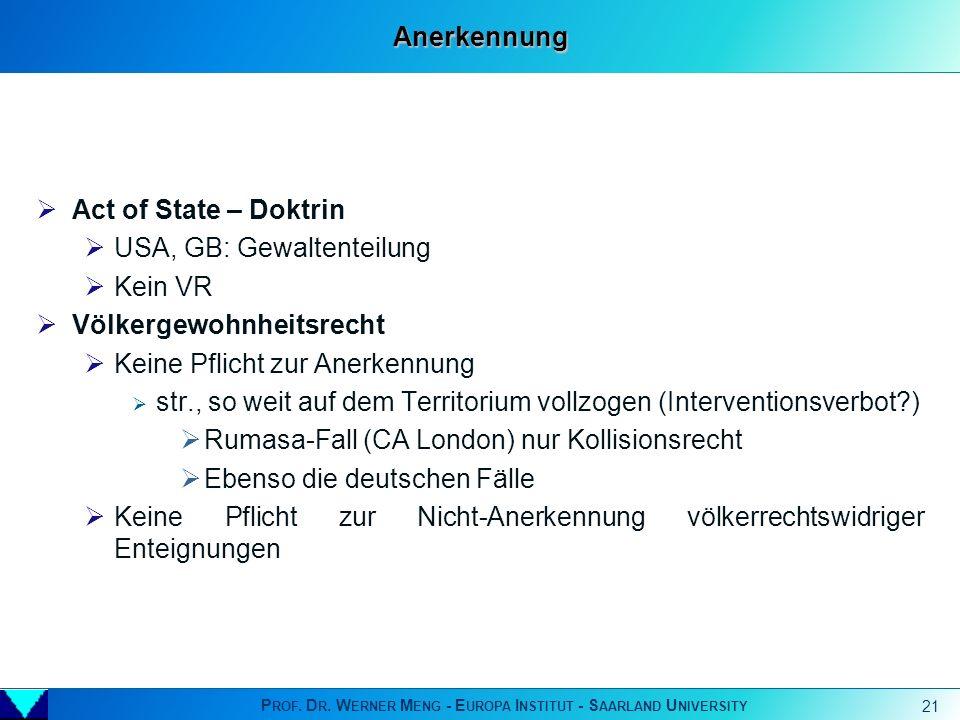 Prof. Dr. Werner Meng - Europa Institut - Saarland University