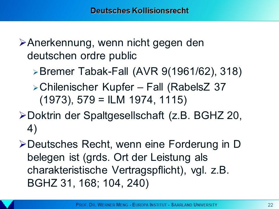 Deutsches Kollisionsrecht