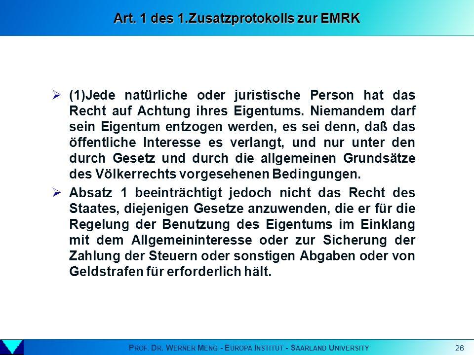 Art. 1 des 1.Zusatzprotokolls zur EMRK