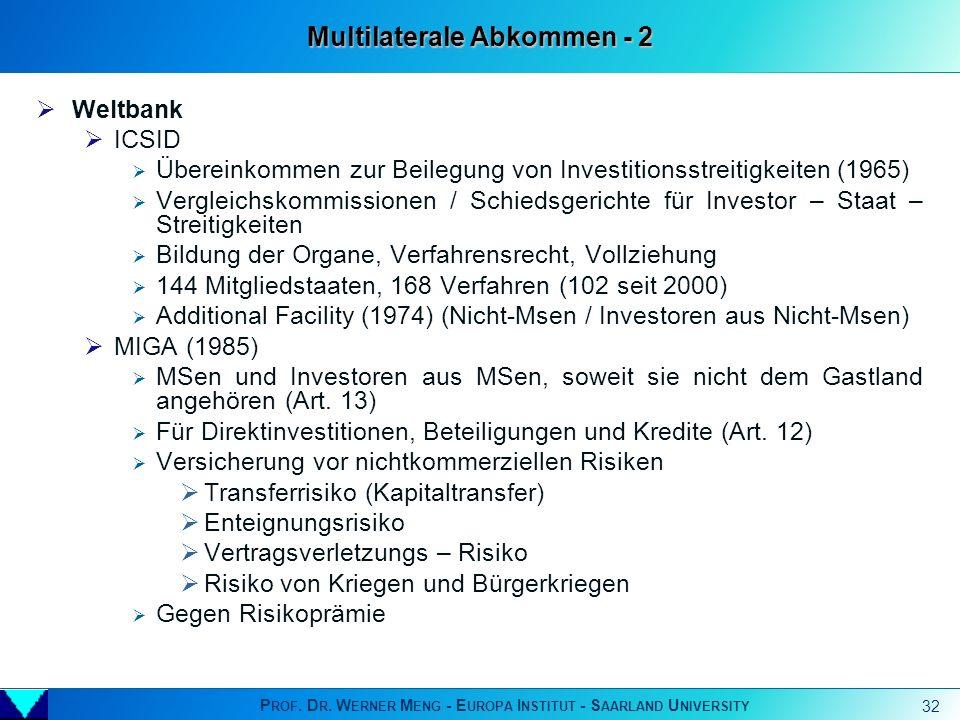 Multilaterale Abkommen - 2