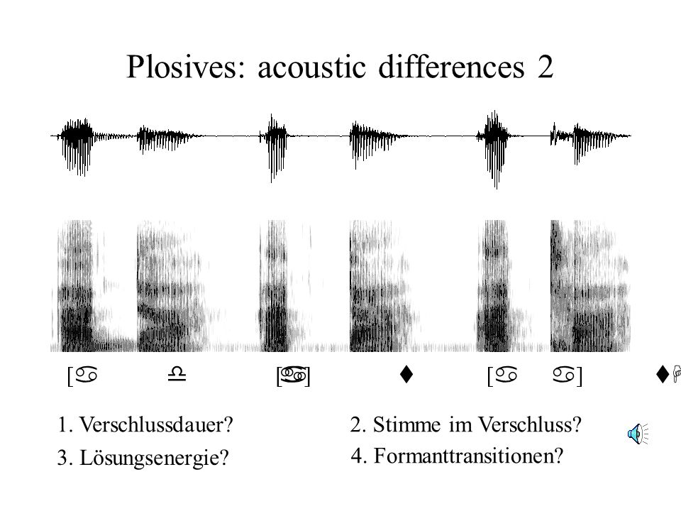 Plosives: acoustic differences 2