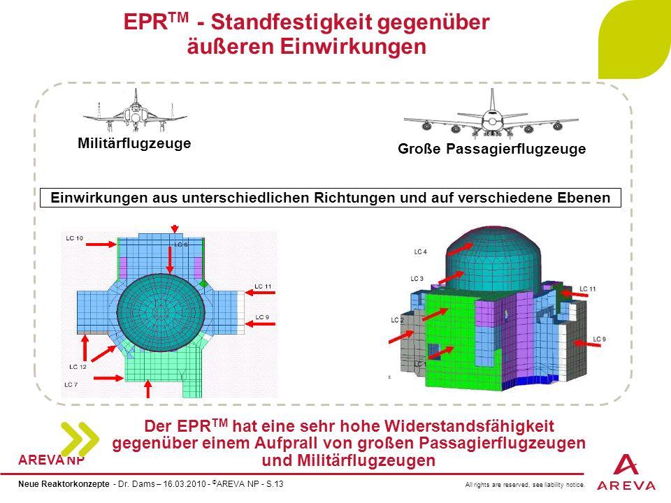 EPRTM - Standfestigkeit gegenüber äußeren Einwirkungen