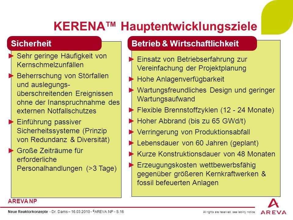 KERENA™ Hauptentwicklungsziele