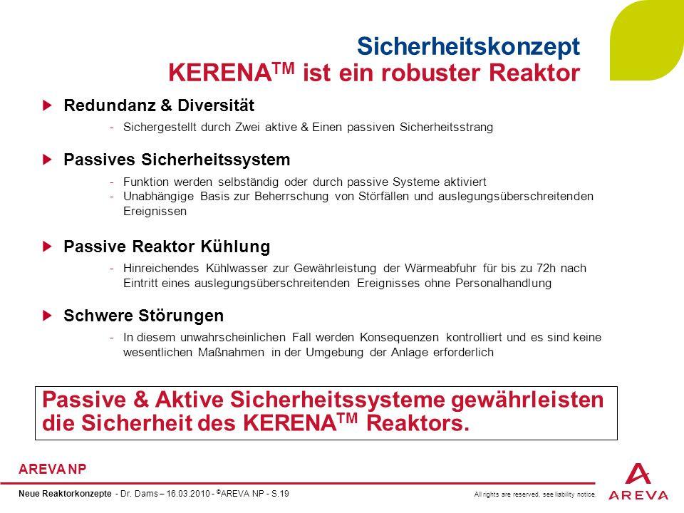 Sicherheitskonzept KERENATM ist ein robuster Reaktor