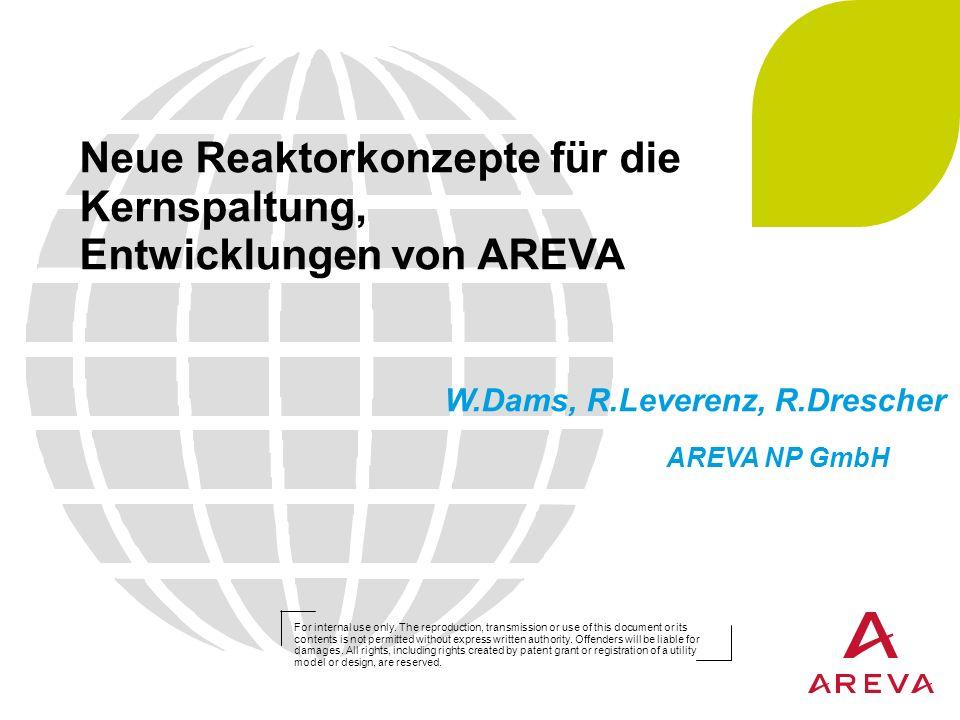 Neue Reaktorkonzepte für die Kernspaltung, Entwicklungen von AREVA