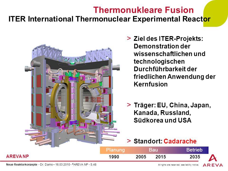 Thermonukleare Fusion