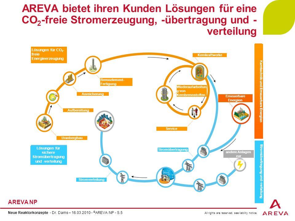 AREVA bietet ihren Kunden Lösungen für eine CO2-freie Stromerzeugung, -übertragung und -verteilung