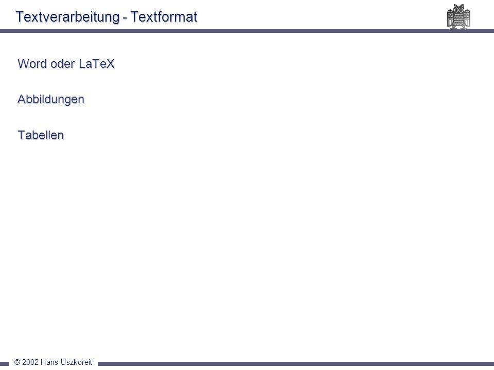 Textverarbeitung - Textformat