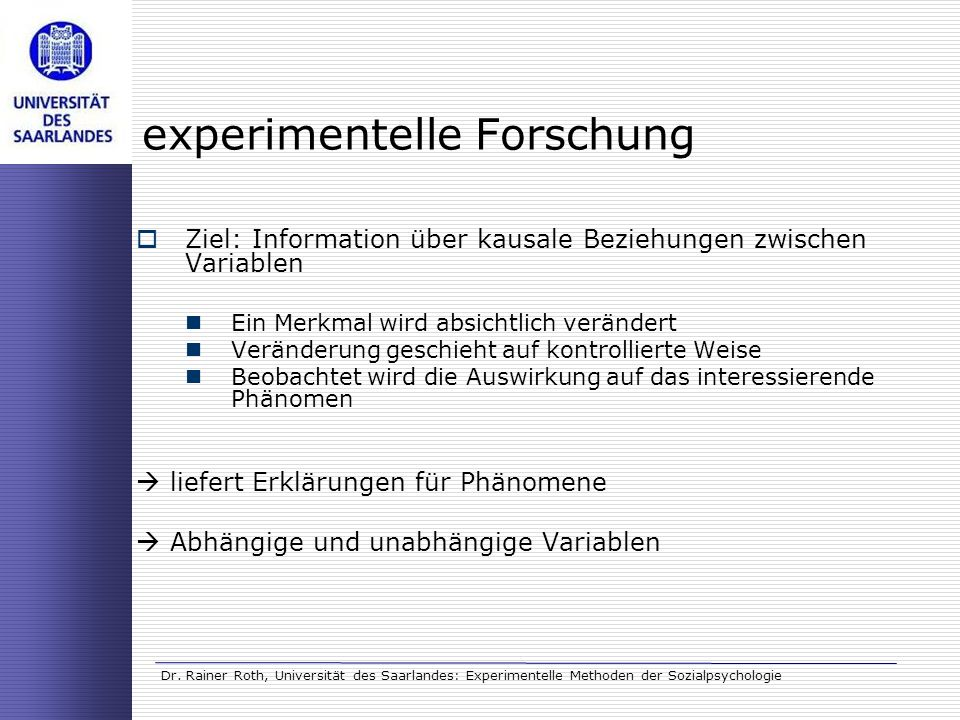 experimentelle Forschung