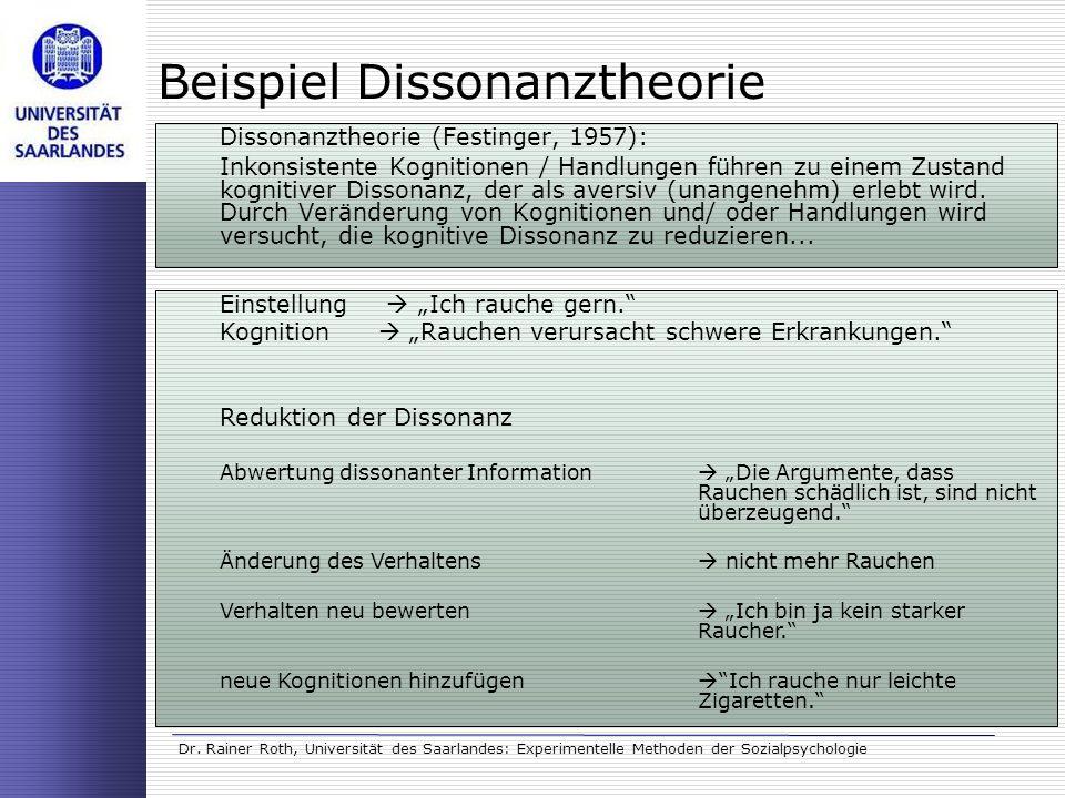 Beispiel Dissonanztheorie