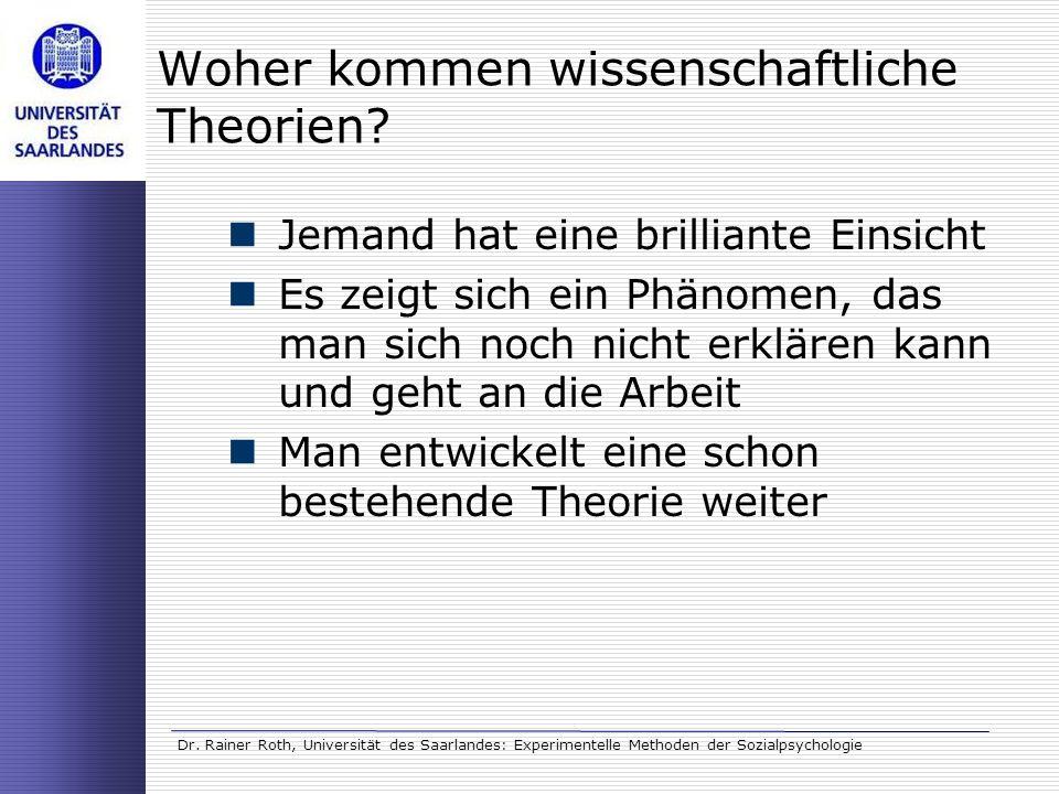 Woher kommen wissenschaftliche Theorien