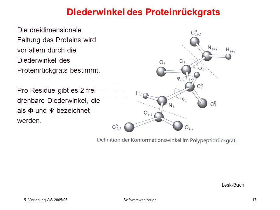 Diederwinkel des Proteinrückgrats