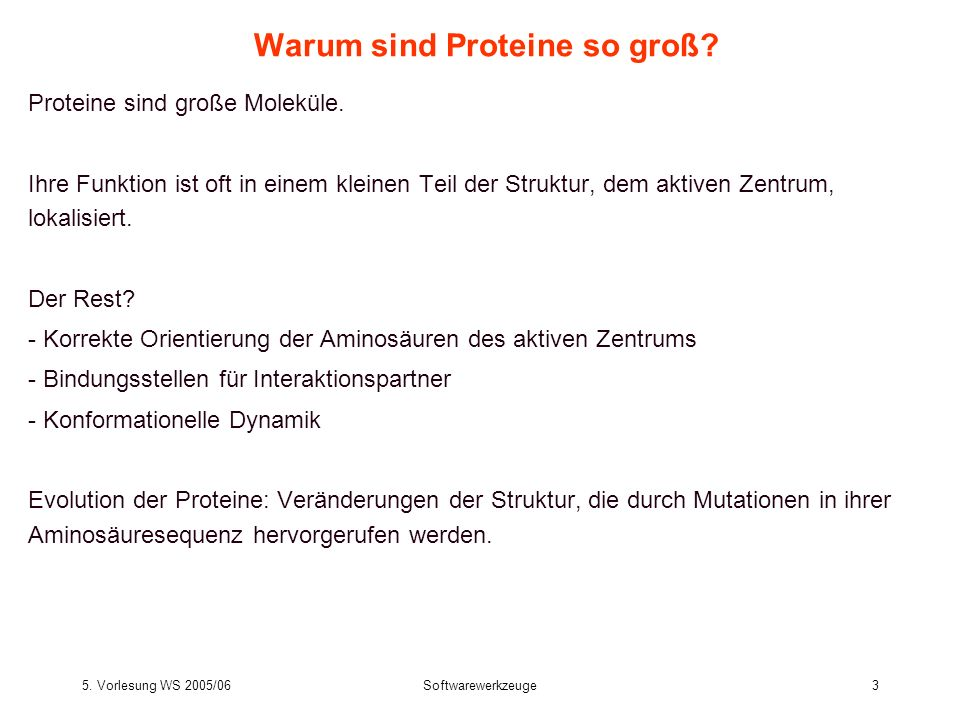 Warum sind Proteine so groß