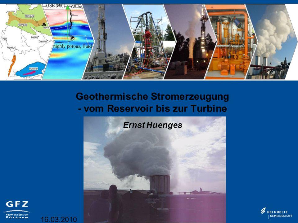 Geothermische Stromerzeugung - vom Reservoir bis zur Turbine