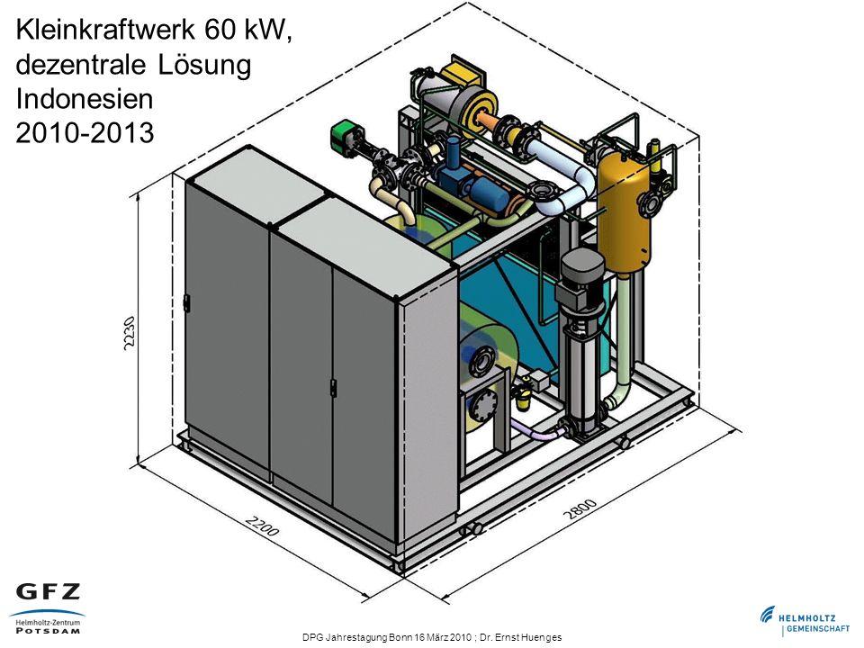 Kleinkraftwerk 60 kW, dezentrale Lösung Indonesien 2010-2013