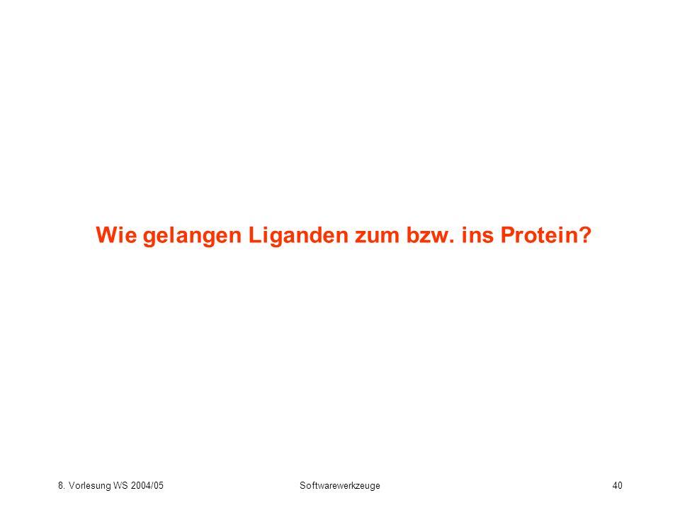 Wie gelangen Liganden zum bzw. ins Protein