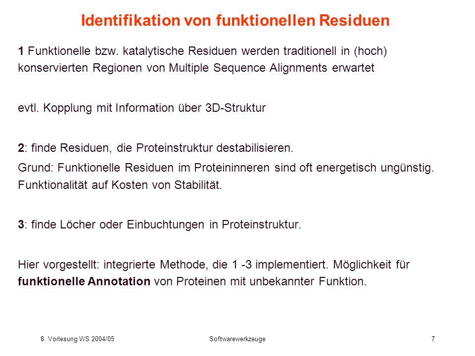Identifikation von funktionellen Residuen