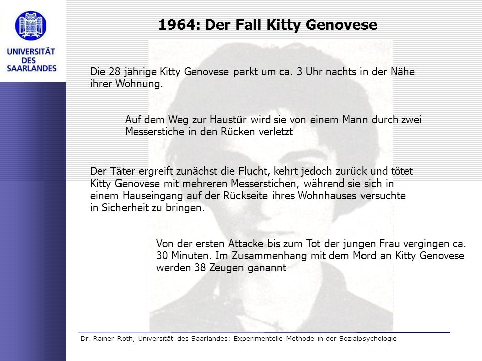 1964: Der Fall Kitty Genovese