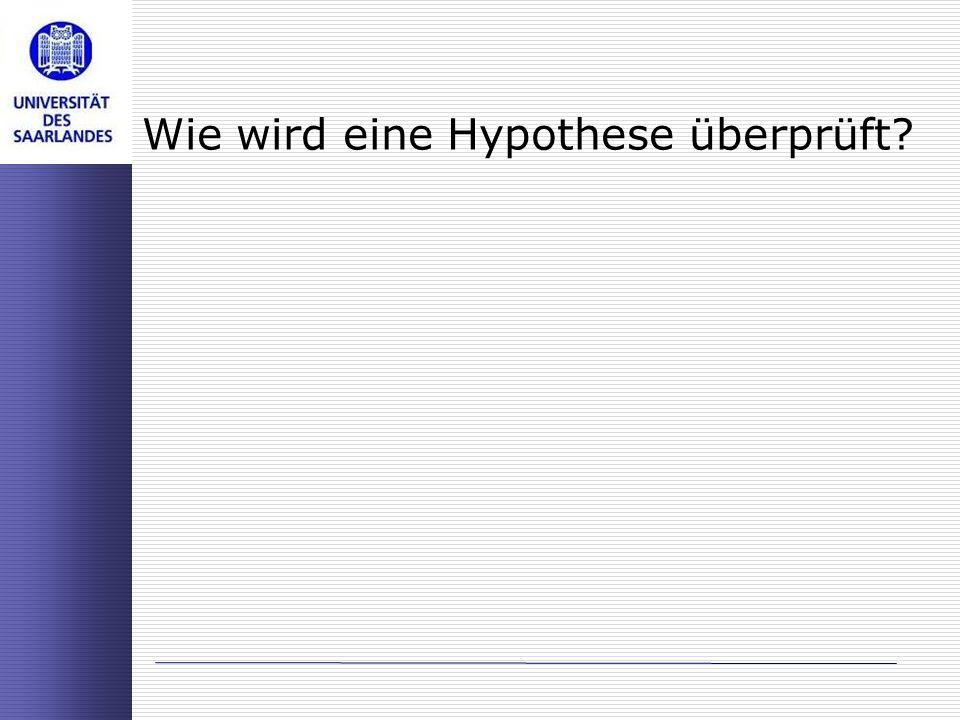 Wie wird eine Hypothese überprüft