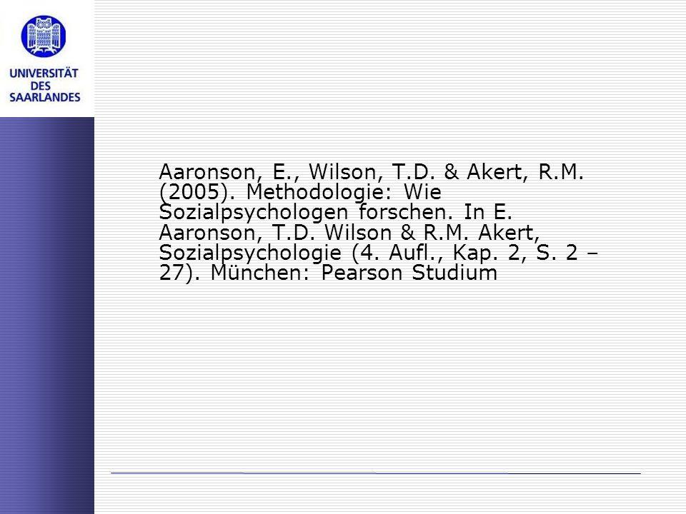 Aaronson, E. , Wilson, T. D. & Akert, R. M. (2005)