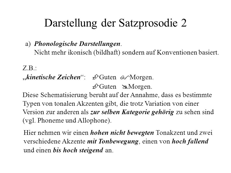 Darstellung der Satzprosodie 2