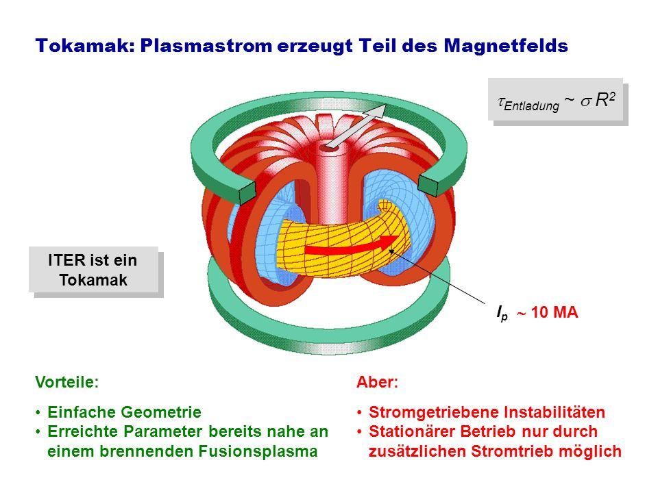 Tokamak: Plasmastrom erzeugt Teil des Magnetfelds