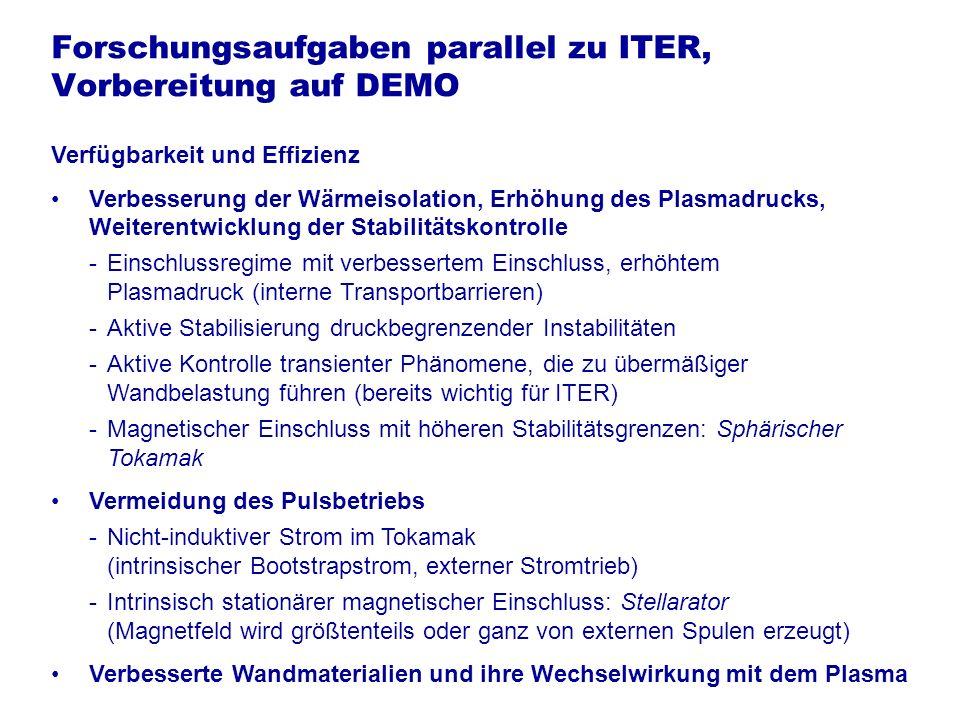 Forschungsaufgaben parallel zu ITER, Vorbereitung auf DEMO