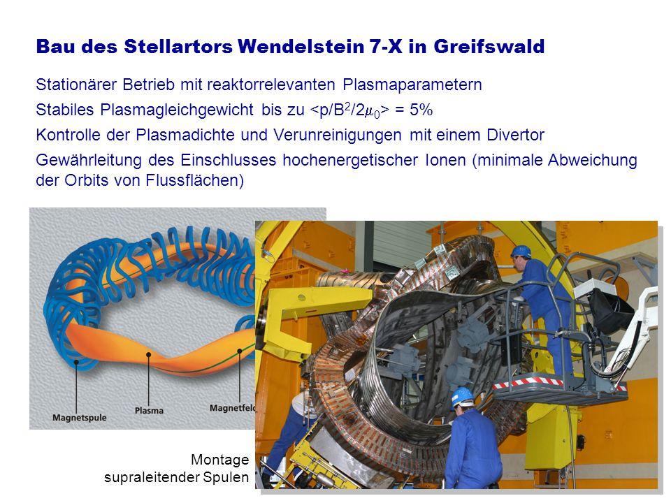 Bau des Stellartors Wendelstein 7-X in Greifswald