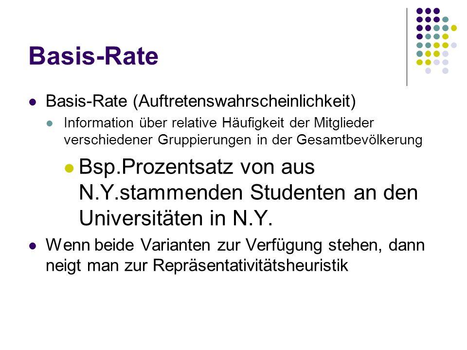 Basis-Rate Basis-Rate (Auftretenswahrscheinlichkeit)