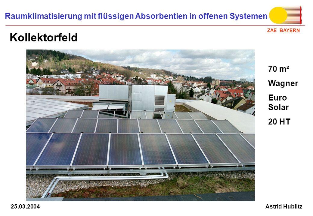 Kollektorfeld 70 m² Wagner Euro Solar 20 HT