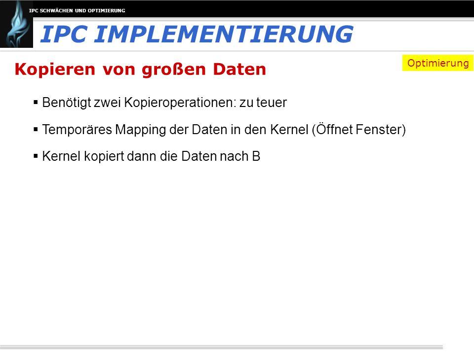 IPC IMPLEMENTIERUNG Kopieren von großen Daten