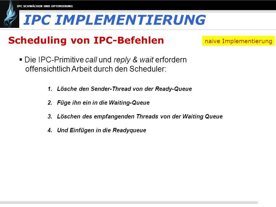 IPC IMPLEMENTIERUNG Scheduling von IPC-Befehlen