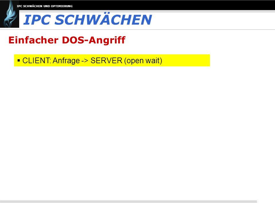 IPC SCHWÄCHEN Einfacher DOS-Angriff