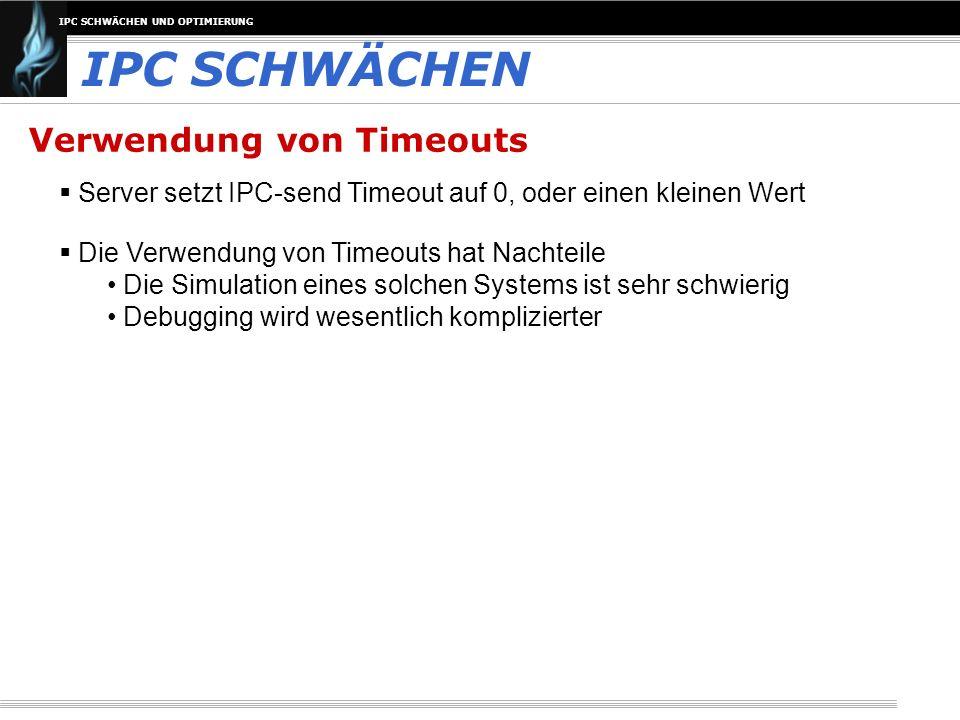 IPC SCHWÄCHEN Verwendung von Timeouts