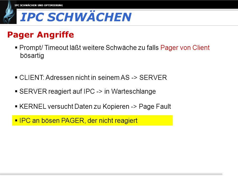 IPC SCHWÄCHEN Pager Angriffe