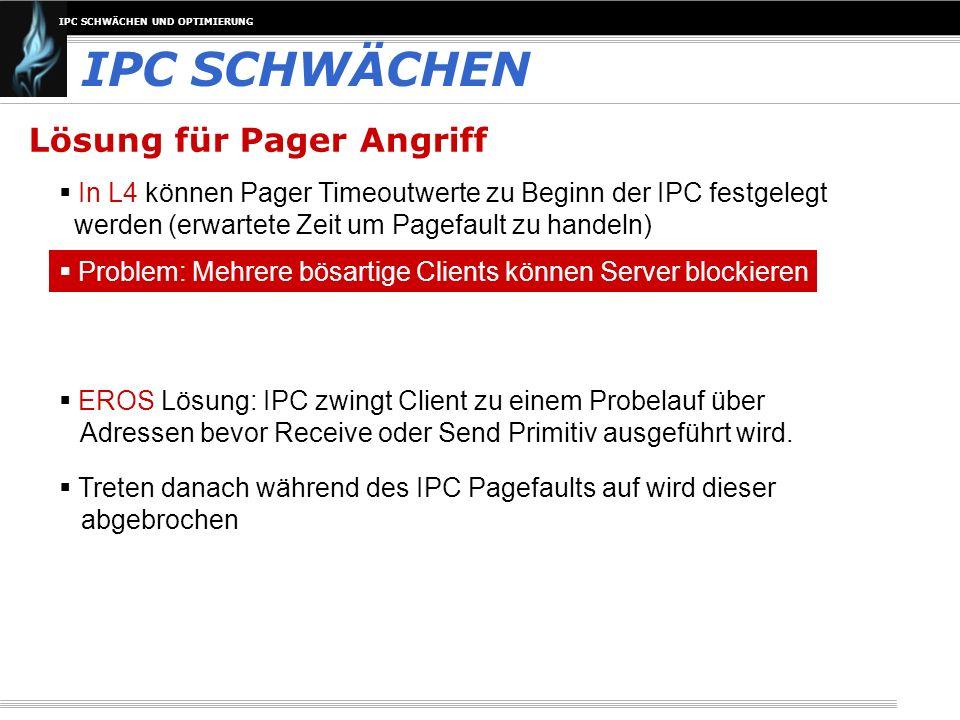 IPC SCHWÄCHEN Lösung für Pager Angriff