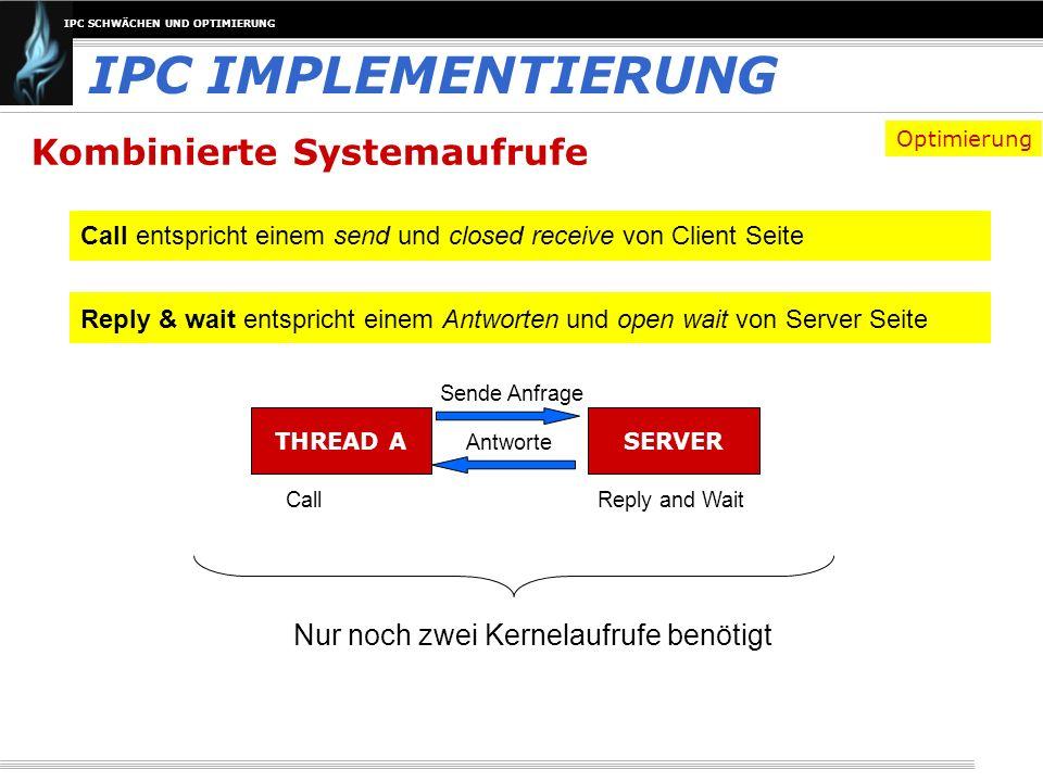 IPC IMPLEMENTIERUNG Kombinierte Systemaufrufe
